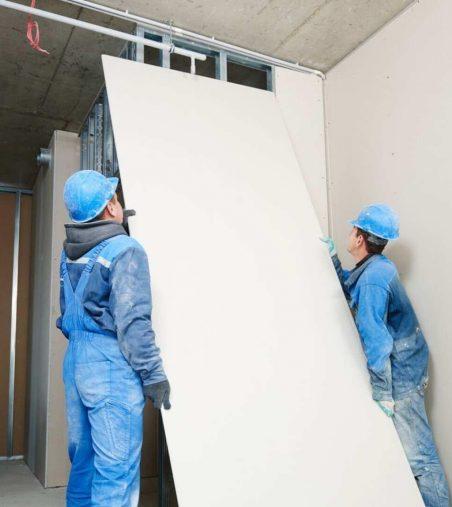 plasterboard installation